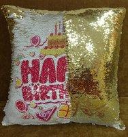 подушка с пайетками с фото краснодар